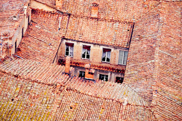 Siena roof-tops and backyard