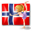 Flag of the Bouvet Island with a girl