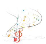 Fototapety Musical notes