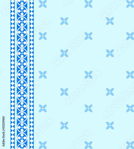 Blue geometric page
