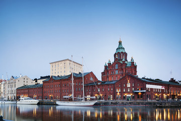 Uspenski Cathedral in the port, Helsinki
