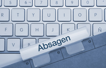 Absagen Tastatur