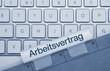 Arbeitsvertrag Tastatur