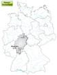 Landkarte von Deutschland und Hessen