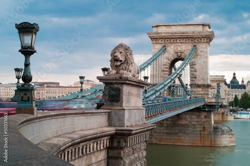 Poster Budapest - Chain Bridge