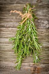Rosemary on wood