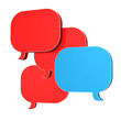 Speech Bubbles Red Blue