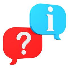 Speech Bubbles Question Information