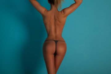 Fit woman Body , backside view.