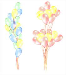 композициия из воздушных шаров