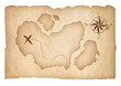 Old treasure map isolated. Clipping path is included.