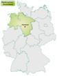 Landkarte von Deutschland und Niedersachsen