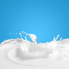 Pouring milk splash