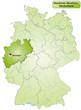 Landkarte von Deutschland und Nordrhein-Westfalen