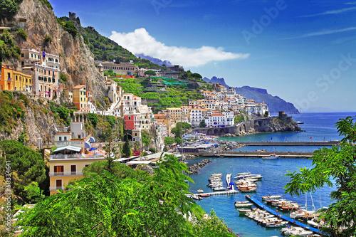 wspaniałe wybrzeża Amalfi. Włochy