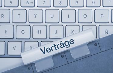 Verträge Tastatur