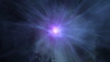 Supernova burst in  deep space