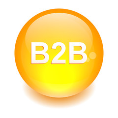 bouton sphere internet B2B icon orange