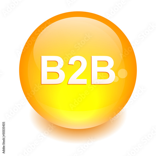 bouton sphere internet B2B icon orange