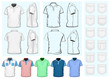 Men's polo-shirt design template