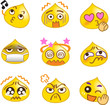 Emoticons Yellow Drop Set 1