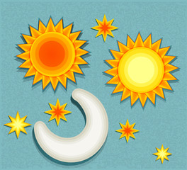 set of vector elements for weather forecast