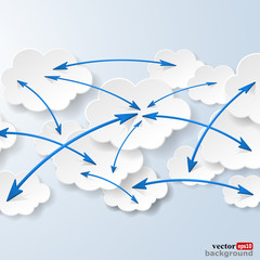 Cloud computing and social networks concept