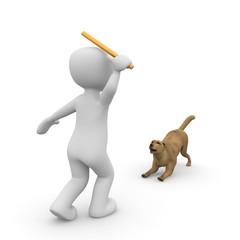 Hund Stöckchen werfen