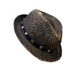 Straw hat, isolated on a white background
