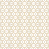Seamless Pattern Flowers Retro Beige