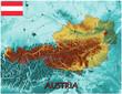 Austria Europe national emblem map symbol motto