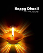 Happy diwali diya bright shiny colorful hindu festival backgroun