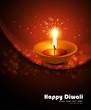Happy diwali diya bright shiny colorful hindu festival vector