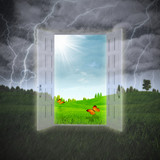 Door to the Summer, abstract environmental backgrounds