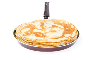 Traditional Russian pancakes for Shrovetide