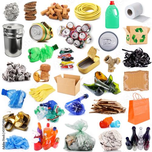 Leinwanddruck Bild riciclaggio ecologico