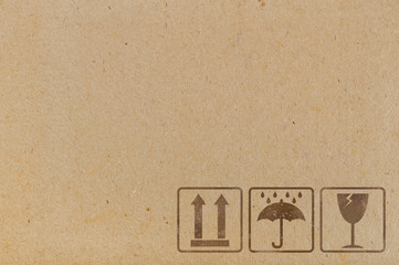 icons used on containers and packaging