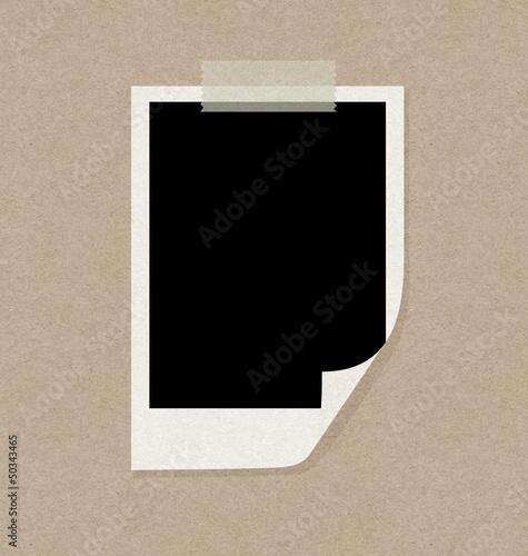 recycled papercraft polaroid