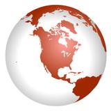 Globus Nordamerika