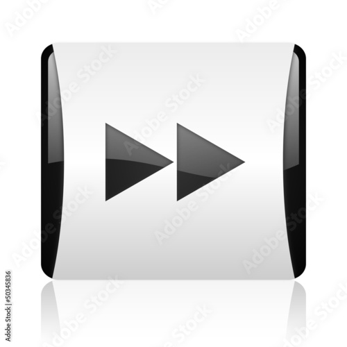scroll black and white square web glossy icon