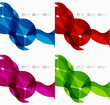 Flowing lines modern design templates