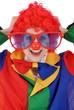 Clown mit übergroßer Brille