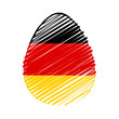 German flag in easter egg