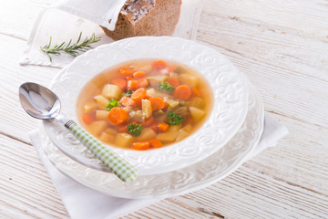 Spring with carrot soup