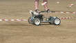 Remote control car coming around