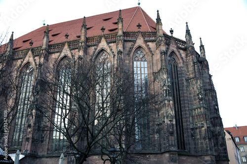 Facade of St. Sebaldus Church, Nuremberg, Germany