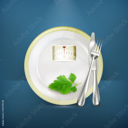 Diet vector illustration