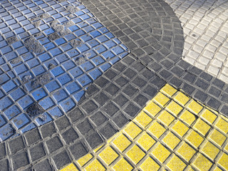 Miro's mosaic in the Rambla. Barcelona