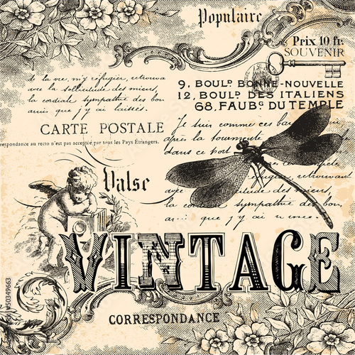 Vintage collage background © lynea