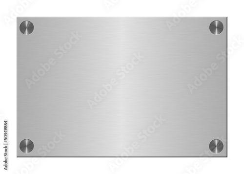 canvas print picture Metalltafel geschraubt
